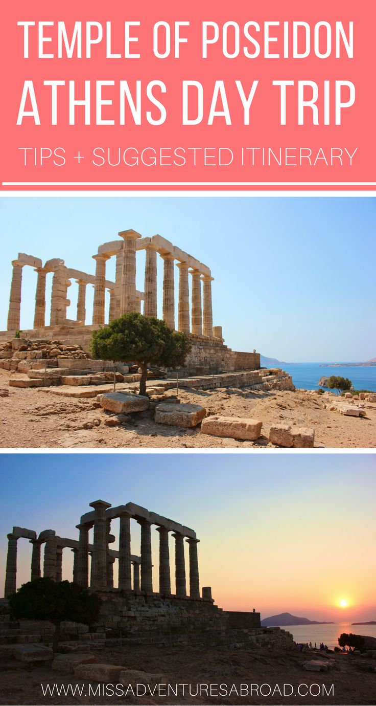 Athens Sounio Day Trip: Visiting the Seaside Temple of Poseidon | Looking for the perfect day trip from Athens, Greece? Visit Poseidon's seaside temple following these tips!