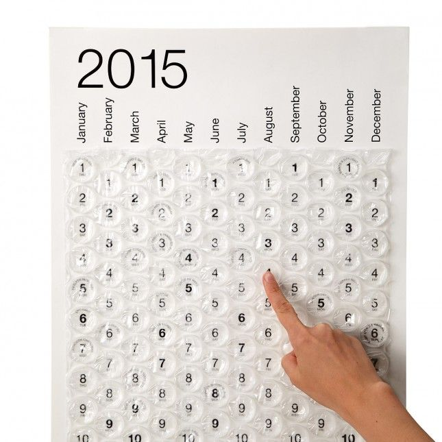 This bubble wrap calendar is GENIUS.