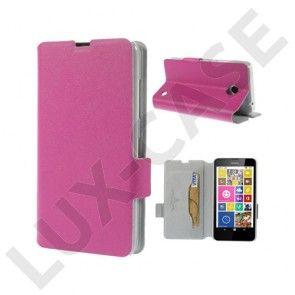Bellman (Kuuma Pinkki) Nokia Lumia 630 / 635 Aito Nahkakotelo