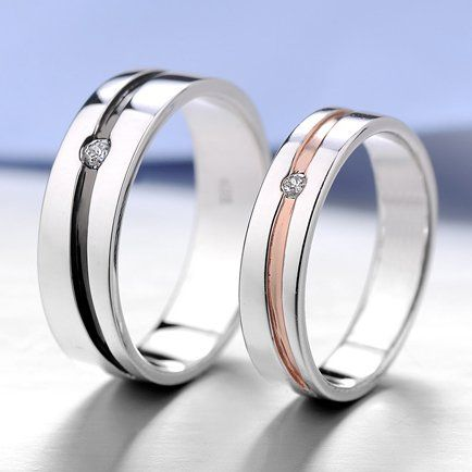 Matching Engraved Promise Rings for Him and Her Set of 2