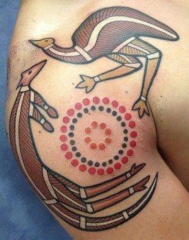 Australian Aboriginal style tattoos
