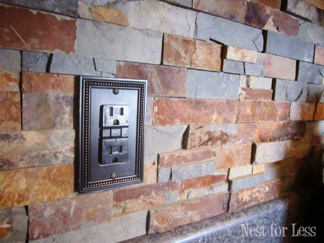 Stone Kitchen Backsplash | Box, Stuffing and Kitchens