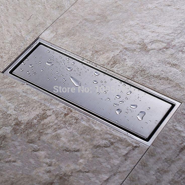 Cheap Inserción del azulejo Rectangular de desechos del piso rejillas de baño ducha Drain 300 x 110 mm, 304 de acero inoxidable, Compro Calidad Desagües directamente de los surtidores de China:     Inserto baldosas  rectangular  baño ducha drenaje de desechos del piso rejillas 300x110mm, 304 de acero inoxidable