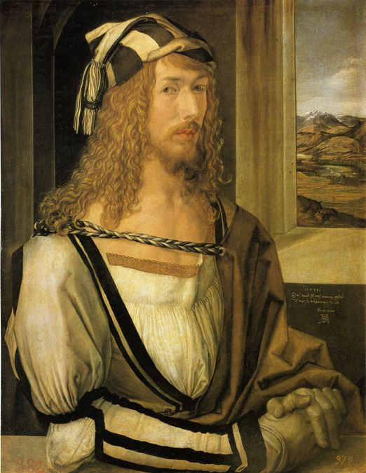 Contrast these representations with the self-portrait that Dürer painted in 1498 that is now in the Prado collection: