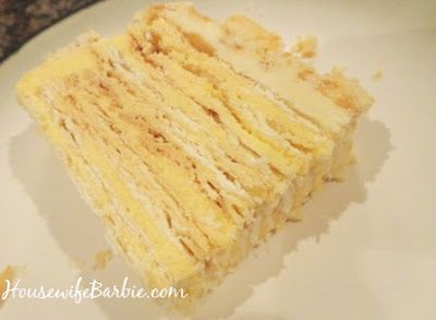 Lithuanian Torte (or a Napoleon Torte)  20-22 layers of flaky pastry and creamy vanilla filling!