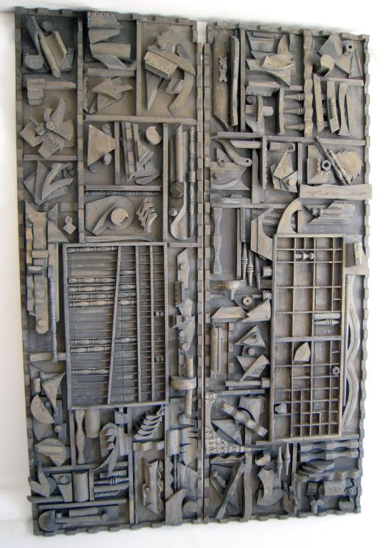 Louise Nevelson Assemblage | Monumental Pair of Wall Sculptures after Louise Nevelson at 1stdibs