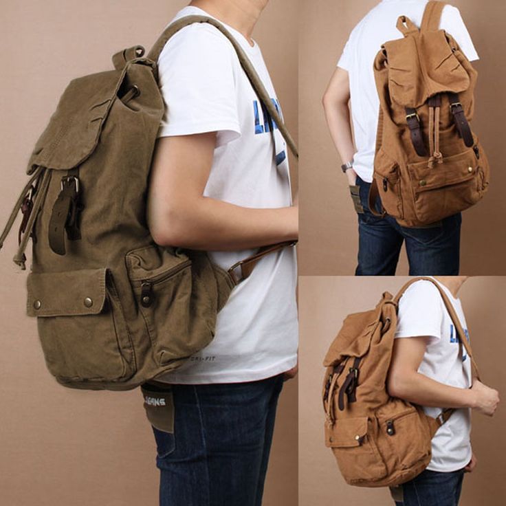 Men Women Vintage Army Canvas Backpack Rucksack School Satchel Travel Hiking Bag | Clothing, Shoes & Accessories, Men's Accessories, Backpacks, Bags & Briefcases | eBay!
