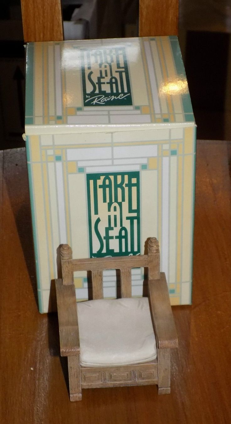 TAKE A SEAT BY RAINE - MINIATURE FURNITURE/DOLLS HOUSE PATIO SEAT C1990 | eBay