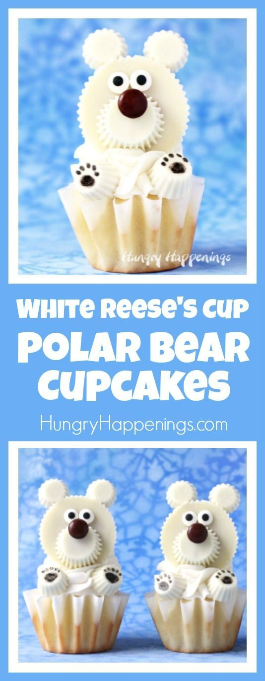 Warm up on a cold winter's day by making some of these incredibly cute Polar Bear Cupcakes made with White Reese's Cups. Watch the video tutorial to see just how easy they are to make.