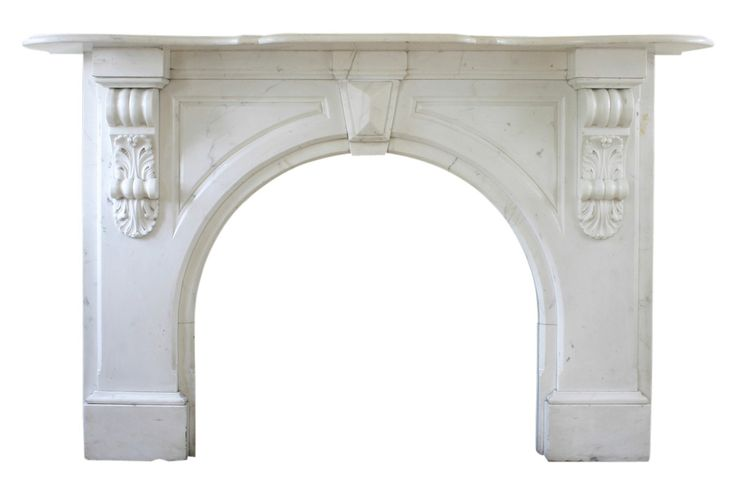 Victorian Statuary white marble fireplace surround…