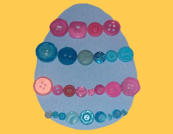 Button Easter Egg Preschool Art Project