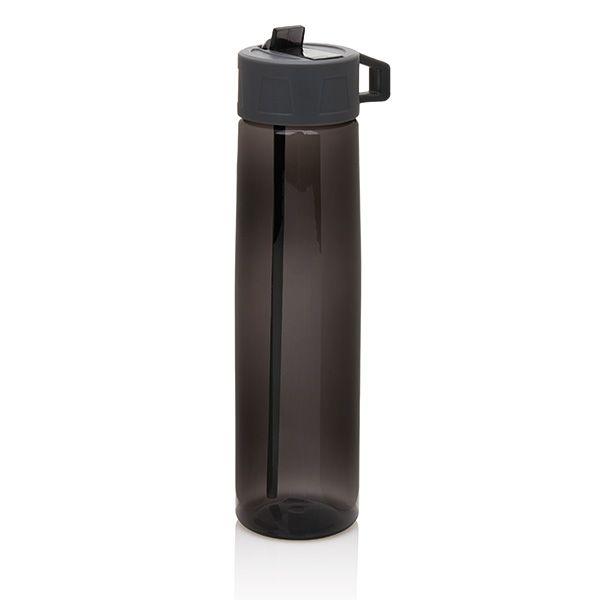 750ml Tritan bottle with easy to use straw including carrying hook. The Tritan bottle with straw is BPA free.