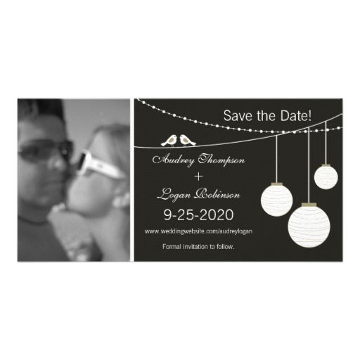 Love Birds & Paper Lanterns Save the Date