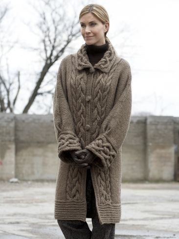 Cable Car Coat | Yarn | Free Knitting Patterns | Crochet Patterns | Yarnspirations