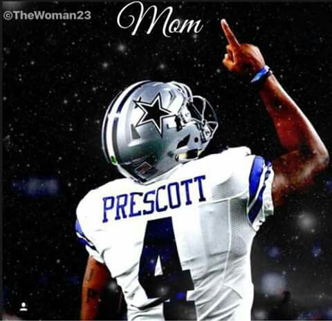 Dak Prescott is a great guy/stellar player. he is making his mother proud in heaven. she has passed away from cancer. :( he is an amazing addition to the DC team. God Bless you Dak! :)