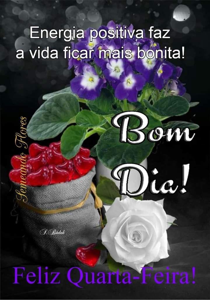 Pin De Fatima Borges Em Quarta Feira Bom Dia Com Flores Bom Dia