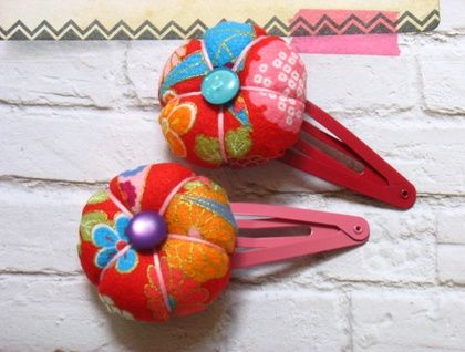 Puffy Fabric Flower Hairclip - New Collection