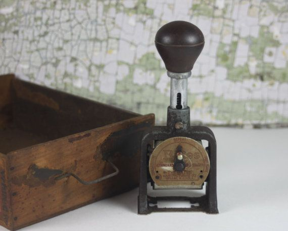 Antique Bates Industrial Stamp / Automatic by SouthernGilt on Etsy