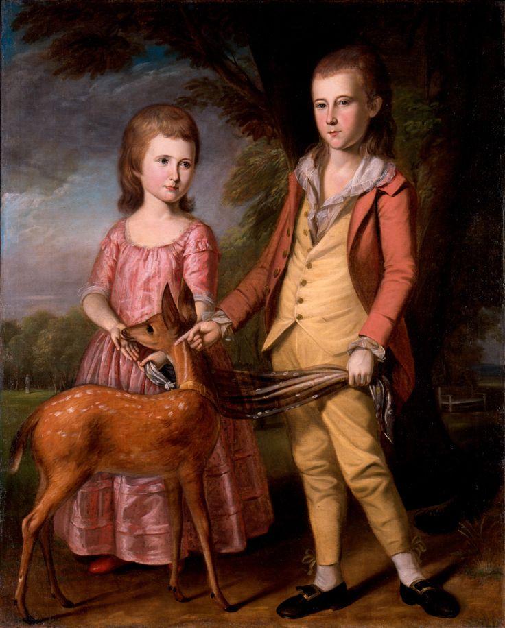 The Stanley Children C W Peale 1782  New Bern NC