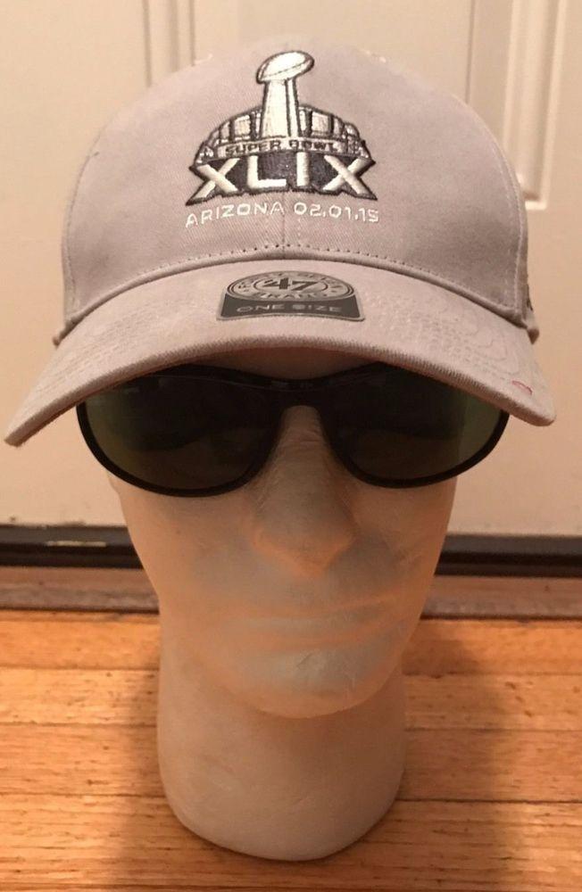 Super Bowl XLIX Cap Hat Light Gray One Size 47 Brand Arizona NFL #47Brand