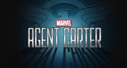 Agent Carter TV series intertitle and logo.