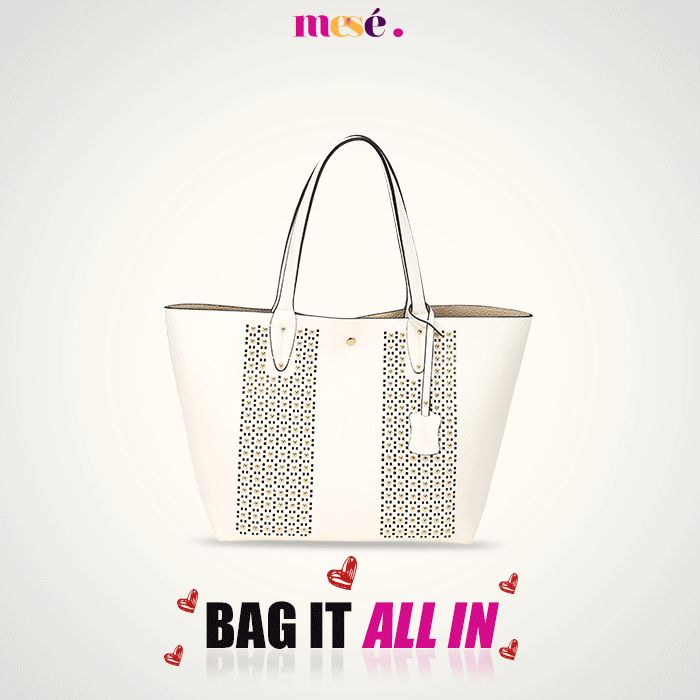 Bag it all in with so much room. This beautiful collection of handbags can fit your notebook, cosmetics and so much more. Hop on to :- http://bit.ly/Mesetote