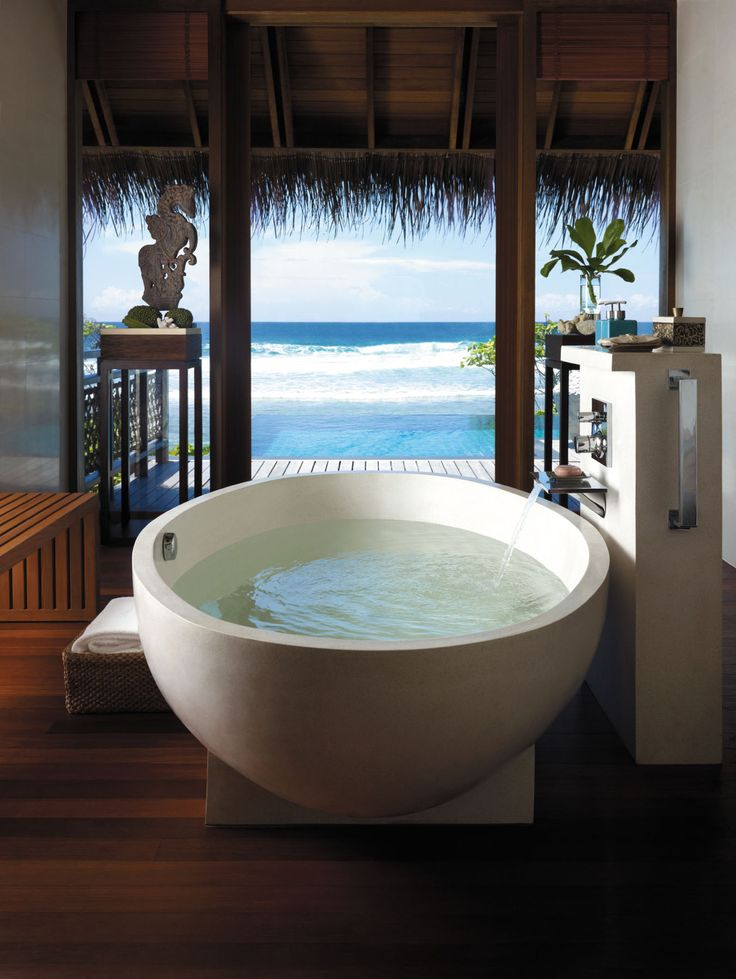 bathroom with a view!  Think of this with some coconut or mango soap!