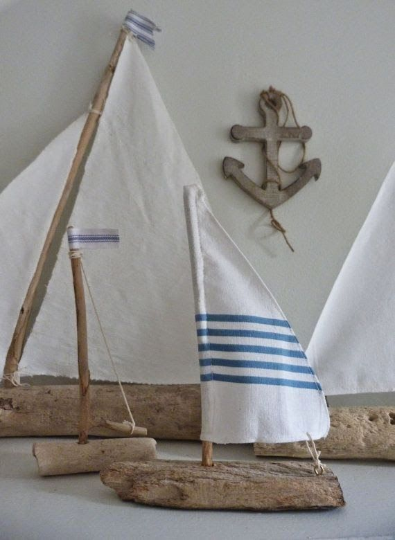 924 best for the island home images on pinterest brick for Diy driftwood sailboat