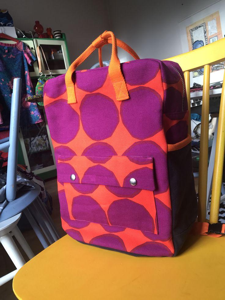 Ryggsäck i canvas från Marimekko