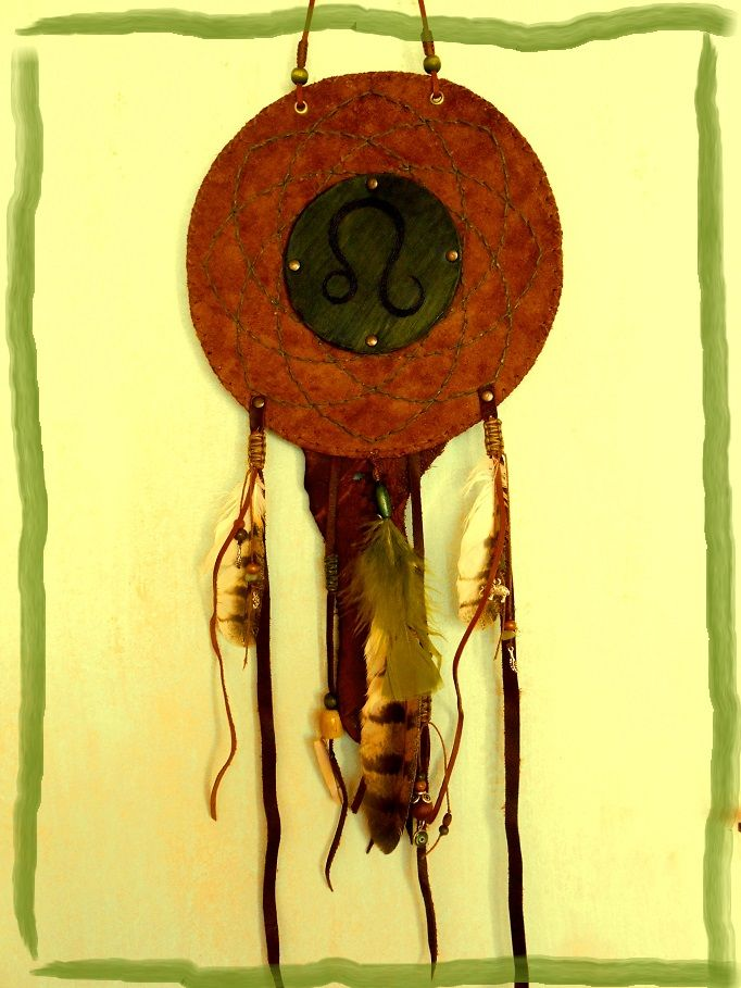 Indiflo Leather Creations leather dream catcher