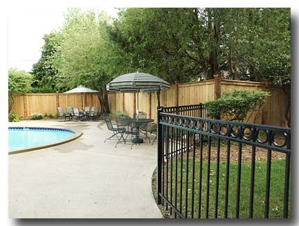 Cheap Pool Fence Ideas outdoor cheap fence for sale Wood Privacy Fence With Ornamental Aluminum Fence Around In Ground Pool