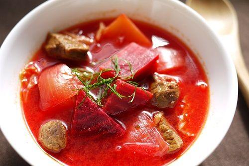 ロシア料理の定番、【ボルシチ】を作ってみました! 今回調理に使用したビーツはこちらです!その他の、用意する材料はこちら  #ボルシチ