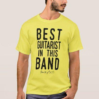 Best Guitarist (maybe) (blk) T-Shirt - metallic style stylish great personalize