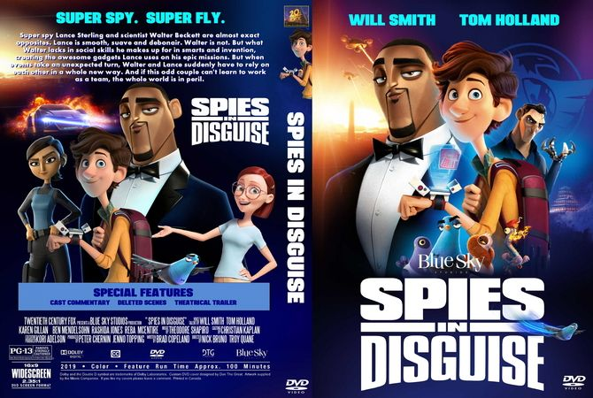 Spies In Disguise 2019 Dvd Cover Design Custom Dvd Dvd Covers