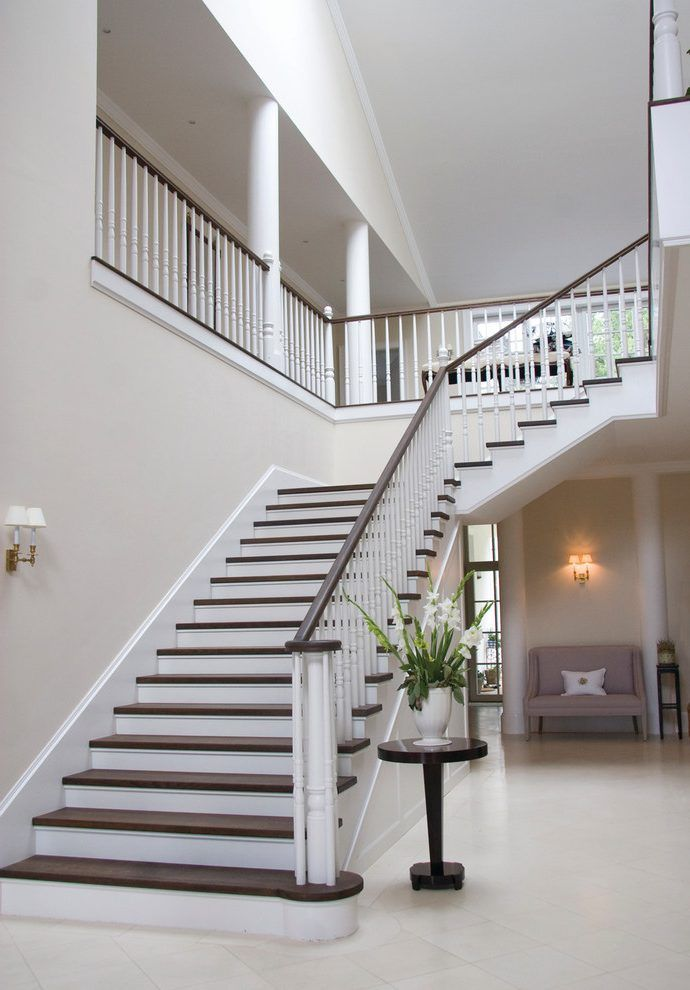 london stair banister ideas staircase modern with white railing traditional  artificial flowers wooden