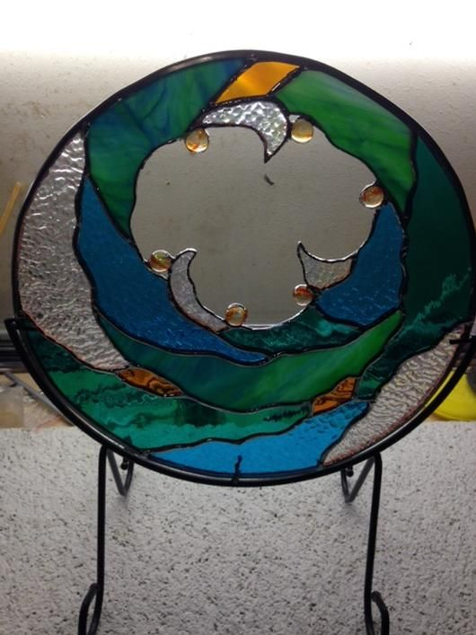 Beautiful stained glass design by Tracy Webster from the Delphi Glass 2014 Art Glass festival entries.
