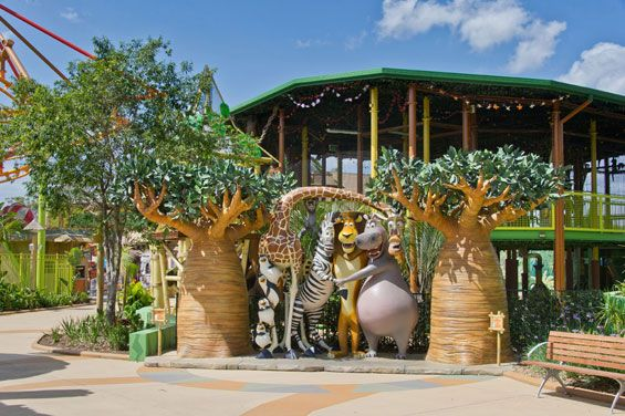 Madagascar and Shrek at Dreamworld   Gold Coast Australia   Citicene #themepark #landscape