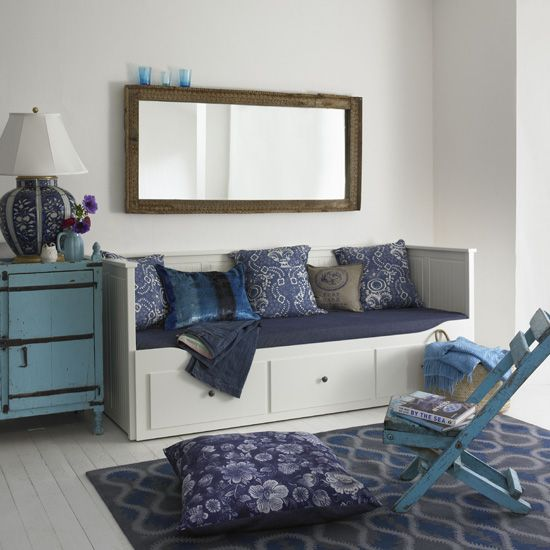 Classic blue living room