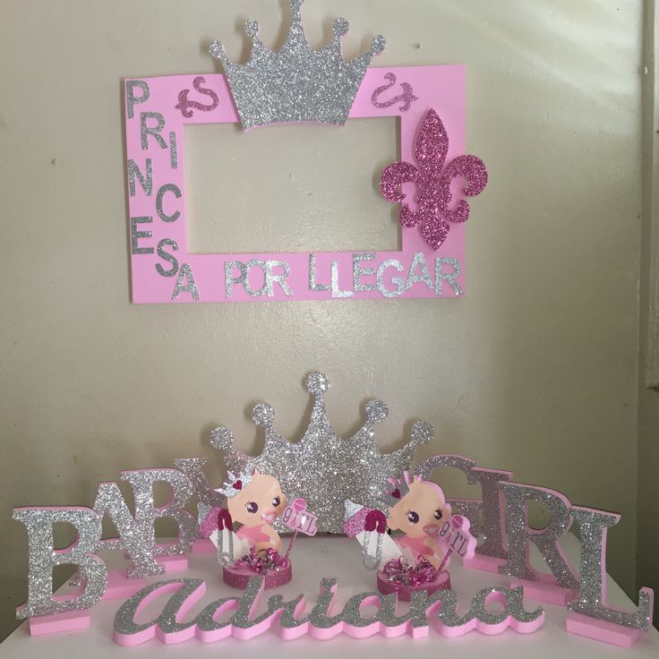 Letter From Baby To Baby Shower Guests: Baby Girl Letters Decorations Photobooth Frame Cursiva