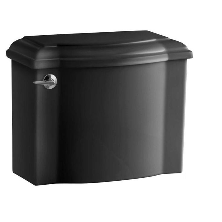 KOHLER Devonshire 1.28 GPF Single Flush Toilet Tank Only with AquaPiston Flush Technology in Black Black