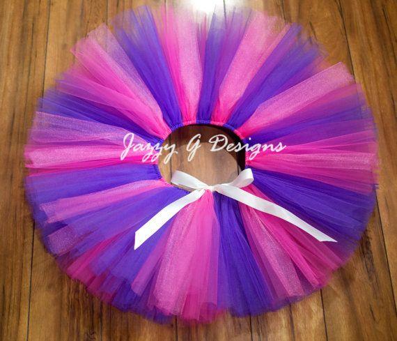 Cheshire Cat Tutu Pink & Purple Tutu-Color Run by JazzyGDesigns