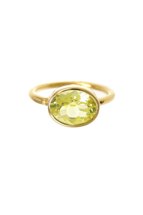 Lemon Quartz Ring  lisa eldridge rings  November by UrbanCarats