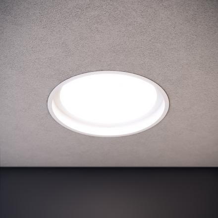 D1 - LAD Darkon LED Recessed downlight. Located in level 1 corridors