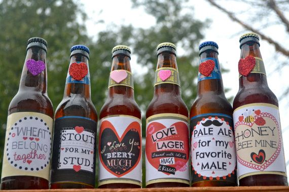 Printable Valentine Beer Labels for him. This can be a part of the perfect Valentines Day gift for any guy who enjoys craft Beer.