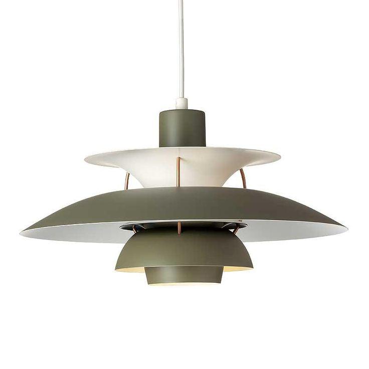 Bestil din nye PH 5 comtemporary armygrønne lampe her. Designet af Poul Henningsen for Louis Poulsen. Klik ind og bliv inspireret af de mange PH lamper.