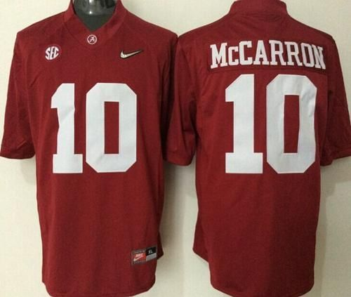 Crimson Tide  10 AJ McCarron Red Limited Stitched NCAA Jersey  2a6afbb93