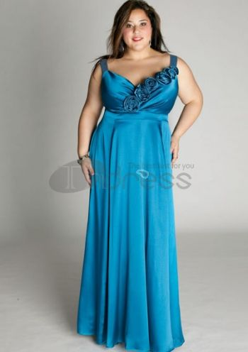 Plus Size Evening Dresses-plus size evening dress Aphrodite Gown in Sea Breeze