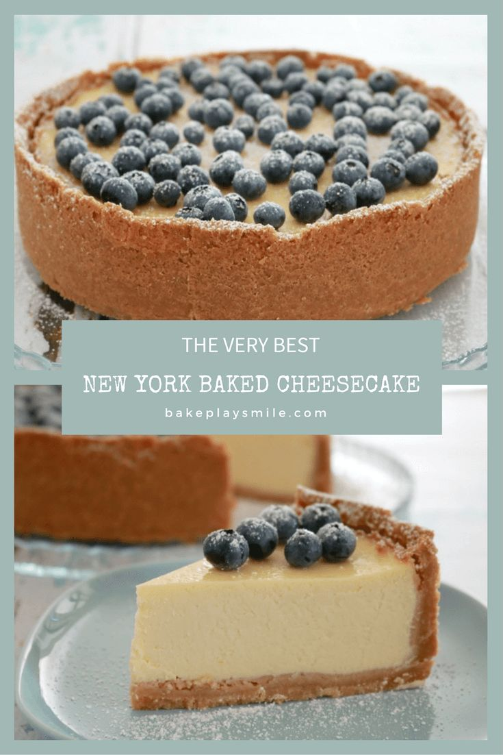 Classic New York Baked Cheesecake - absolutely foolproof! Follow my Top 10 Tips for the Perfect Baked Cheesecake : bakeplaysmile