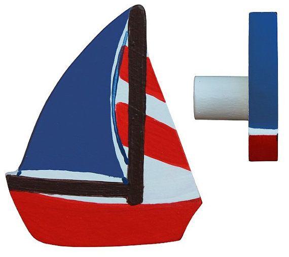 Nautical Drawer Knob / Sailing Boat Drawer Knob