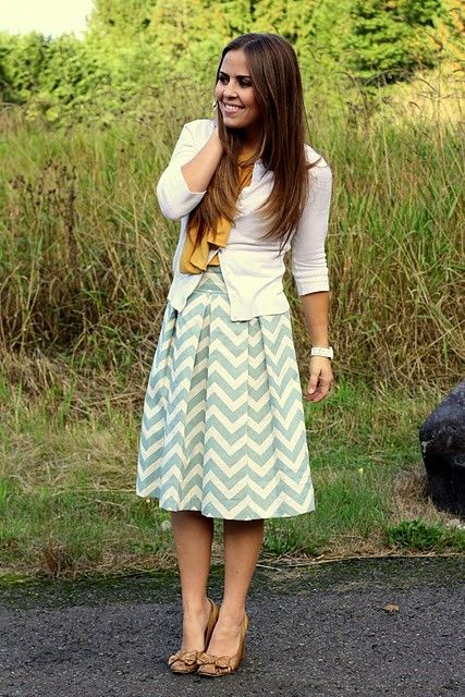 Chevron pleated skirt. Love so so so much by beverly